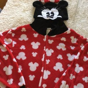 Adult Mini Mouse Onesie Sleepwear
